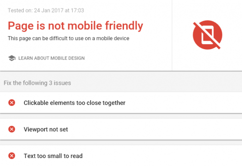 Google Mobile Friendly Checker Failure