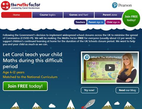 Maths Factor website