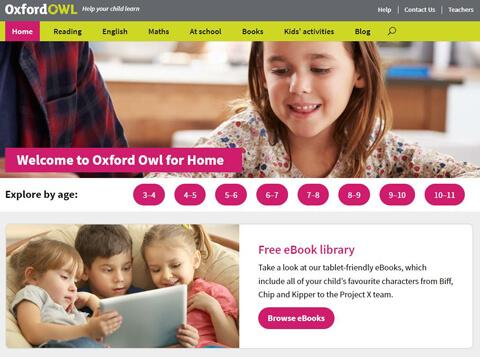 Oxford Owl website