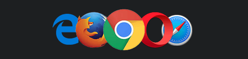 Icons for five different browsers